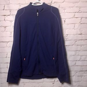 Lululemon Zip Up Blue Sweater with Zip Up Pockets
